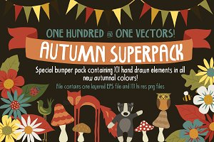 Autumn Superpack - 101 doodles