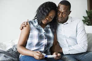 Couple with negative pregnancy test