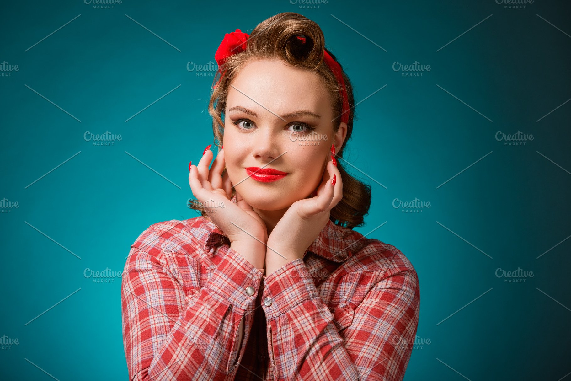 70764a82ac Pretty pinup girl in retro vintage 50 s style ~ People Photos ...