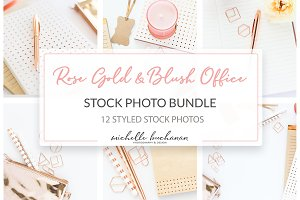 Rose Gold Office Stock Photo Bundle