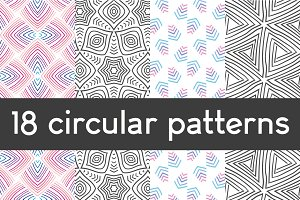 18 circular patterns set