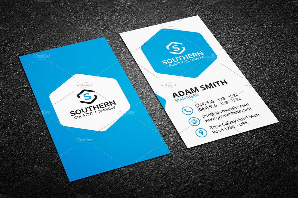 Clean Business Card Template Templates Creative Market