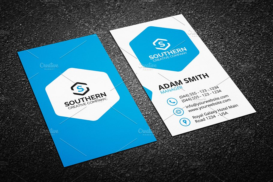Clean business card template business card templates creative previous colourmoves