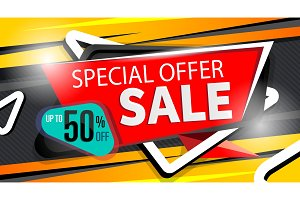 Special offer banner in trendy style