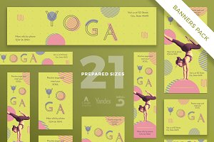 Banners Pack | Yoga