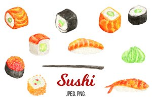 Cartoon sushi