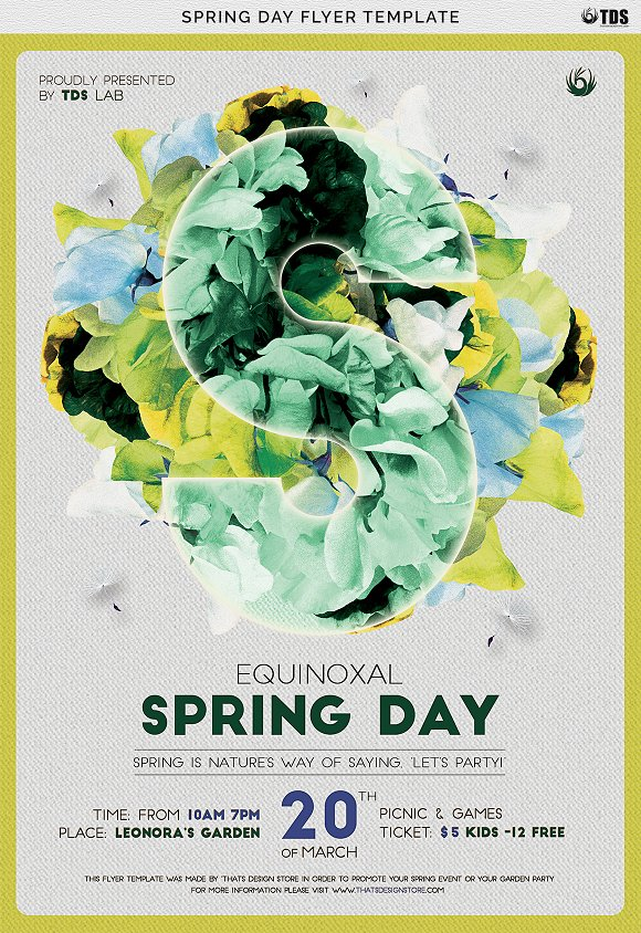 Spring Day Flyer Template Flyer Templates Creative Market