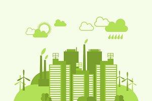 Green eco town concept