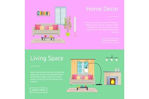 Home Decor and Living Space Vector Illustration