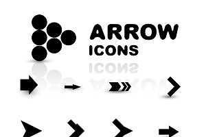 Vector set of black arrows