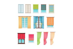 Luxurious Curtains and Practical Jalousies Set