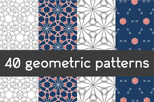 40 geometric patterns