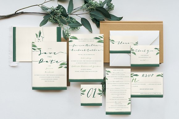 Cly Tropical Wedding Suite Invitations