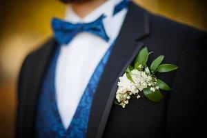 Bridegroom preparing for the wedding