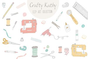 Crafty Kathy Clip Art & Vector