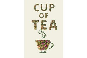 Cup of tea, placer of dry fruit tea