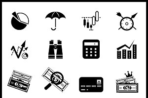 Vector finance icons set