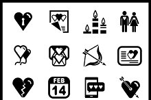 Vector love icons set