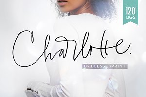 Charlotte Script with 120 ligatures