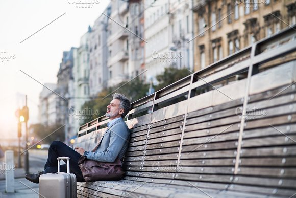 Mature Businessman In A City