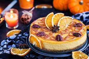 Pumpkin and orange cheesecake