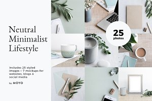 Neutral Minimalist Lifestyle Photos