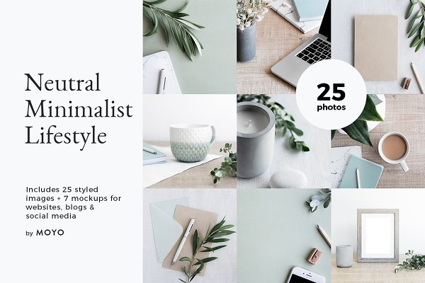 Neutral Minimalist Photo Bundle