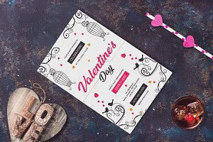 Valentine Invitation Card Mock-up #4