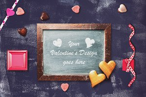 Valentine Chalkboard Mock-up #4
