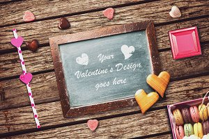 Valentine Chalkboard Mock-up #3