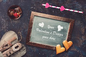 Valentine Chalkboard Mock-up #2
