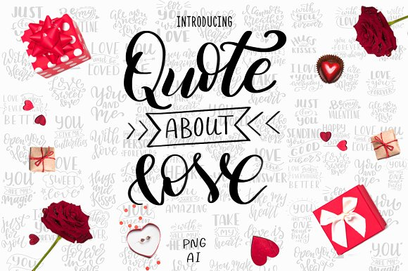 Quotes about love-Lettering Pack