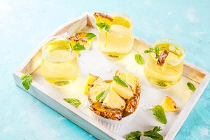 Pineapple juice margarita