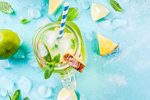 Pineapple mojito or lemonade