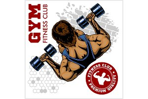 Gym logo. Fitness center logo design template. Vector