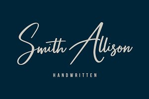 Smith Allison - Signature Font