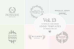 Feminine Premade Logo Bundle Vol. 13