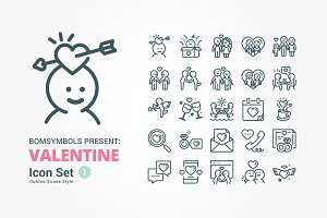 Valentine Love Outline