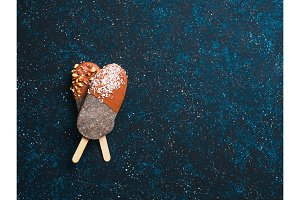 Chia popsicle with chocolate