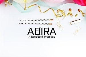 Abira Sans Serif 6 Font Family Pack
