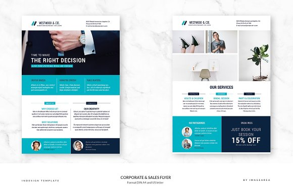 portfolio and corporate flyer flyer templates creative market