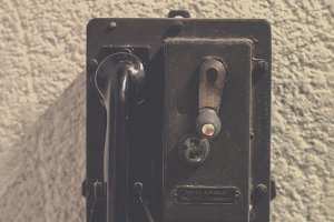 Old wall phone