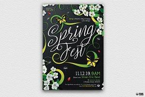 Spring Fest Flyer Template