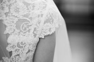 Bride lace dress