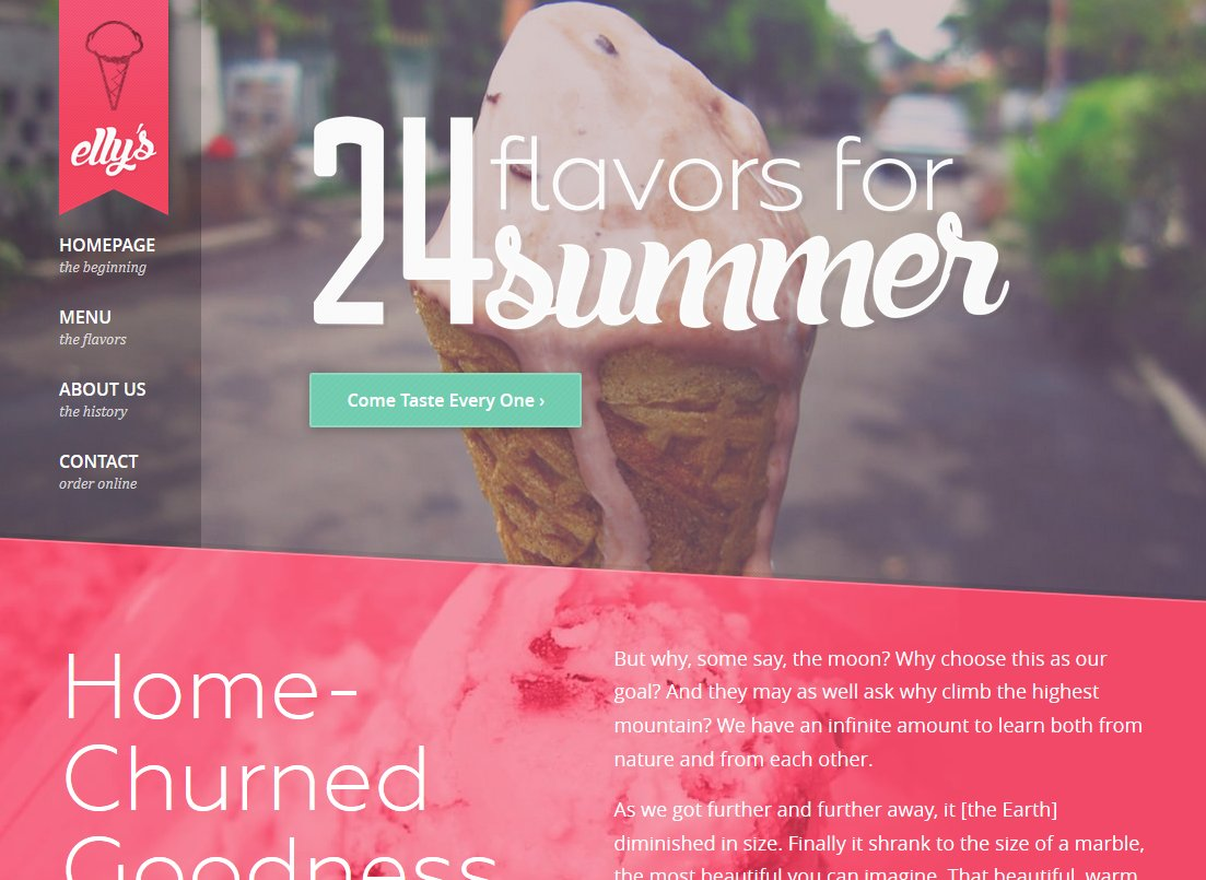Elly\'s Ice Cream HTML Template ~ Website Templates ~ Creative Market