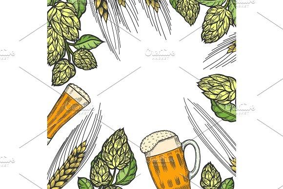 Colorful beer menu design template