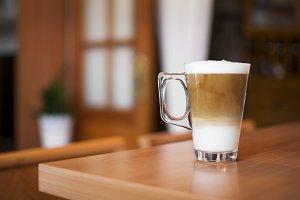 Freshly prepared cappuccino