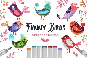 Funny Birds Set