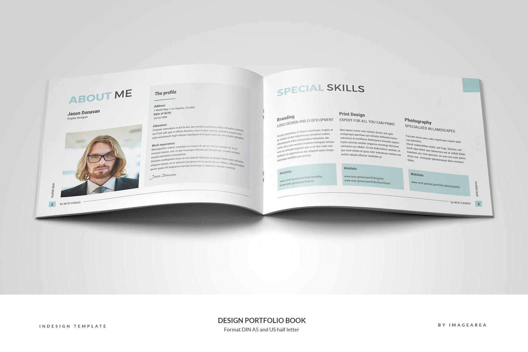 design portfolio book brochure templates creative market pro