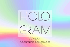 Hologram. Vector backgrounds